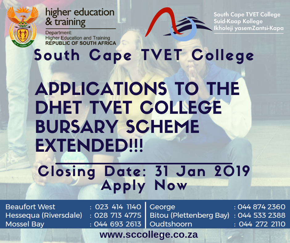 Closing Date for Bursary Scheme extended.  Apply Now.