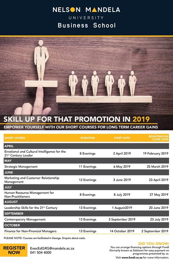 Short Courses: Nelson Mandela University Business School